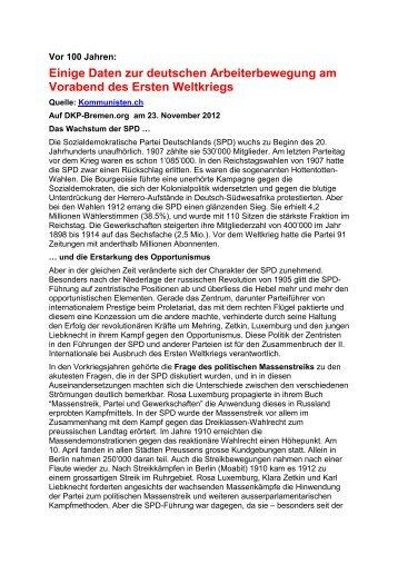 Daten zur dtsch. Arbeiterbewegung - Deutsche Kommunistische ...