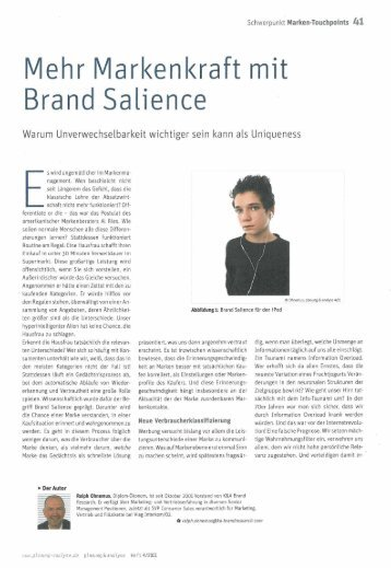 how to build brand salience