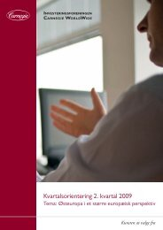 Kvartalsorientering 2. kvartal 2009 - Carnegie WorldWide