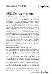II MRSA & Co.: Die Problematik - Drapilux