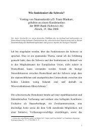 Wie funktioniert die Schweiz? Vortrag von ... - Xecutives.net