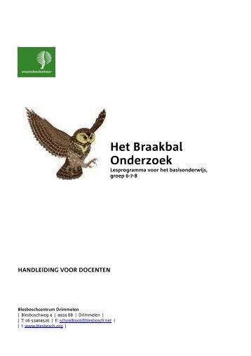 Braakballen Onderzoek - De Biesbosch