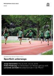 Schulblatt 04/2012 - Sportamt - Kanton Zürich