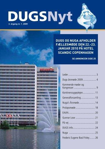DUGSNyt nr. 1 / 2009 - Dansk Urogynækologisk Selskab