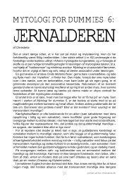 Mytologi for Dummies 6: Jernalderen - chresteria.dk