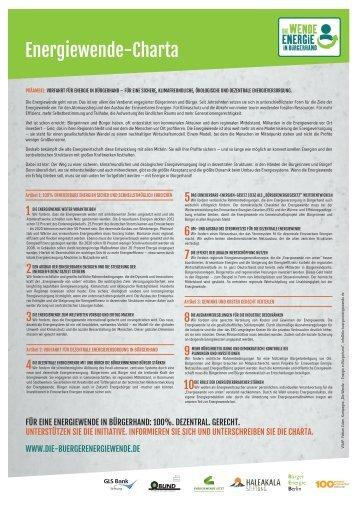 Die Energiewende-Charta