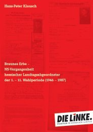 Braunes Erbe - DIE LINKE. Hermann Schaus