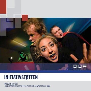 Folder om InitiativStøtten - Dansk Ungdoms Fællesråd