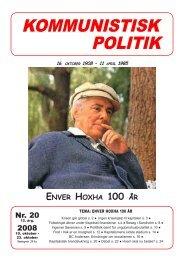 Kommunistisk Politik 20, 2008