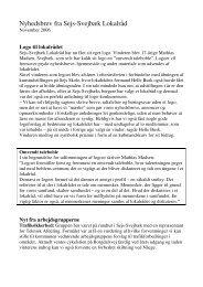Nyhedsbrev november 2006 - Sejs-Svejbæk Lokalråd