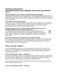 Genbrug af sparepærer (kompaktlysstofrør med indbygget ... - Ikea