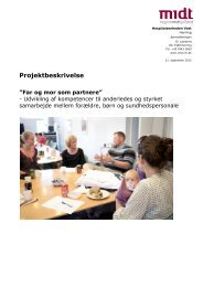 Projektbeskrivelse - Far og mor som partnere - september 2012 ...