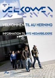 Velkommen - Medarbejdere - AU Herning - Aarhus Universitet