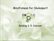 Mindfulness for Skolesport