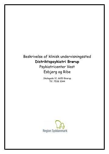 Distriktspsykiatri Brørup - Region Syddanmark