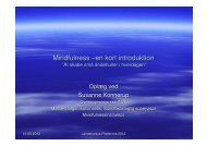 Mindfulness –en kort introduktion