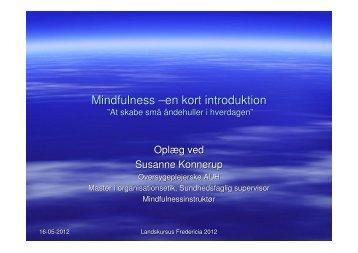 Mindfulness –en kort introduktion