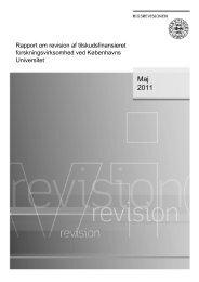 Rapport om revision af tilskudsfinansieret forskningsvirksomhed ved ...