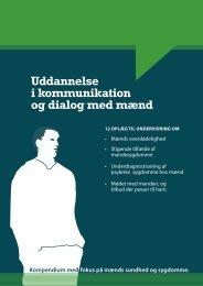 Uddannelse i kommunikation og dialog med mænd - Selskab for ...