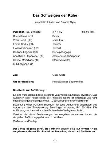 B0899 Das Schweigen der Kühe - Breuninger