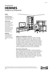 HEMNES serien - Ikea