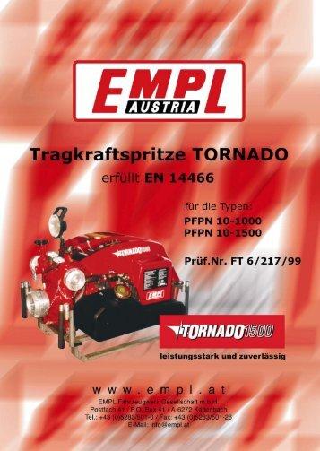 Tragkraftspritze TORNADO - EMPL Fahrzeugwerk