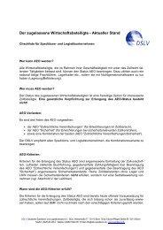 DSLV - Zugelassener Wirtschaftsbeteiligter
