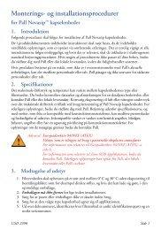 Monterings- og installationsprocedurer for Pall ... - Pall Corporation