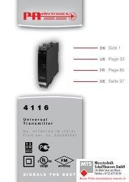 Bedienungsanleitung, Manuel, Manual, Manuale, 4116, PR ...