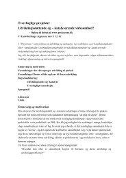 Tværfaglige projekter Udviklingsstøttende og ... - psykozone.dk