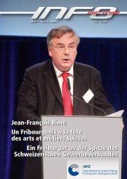 Jean-François Rime Un Fribourgeois à la tête des arts et métiers ...