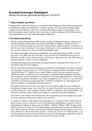 Referat - Om Grundejerforeningen Dybdalgård
