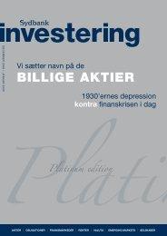 BILLIGE AKTIER - Sydbank Schweiz AG
