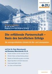 Die erfüllende Partnerschaft – Basis des beruflichen Erfolgs - ZFU ...