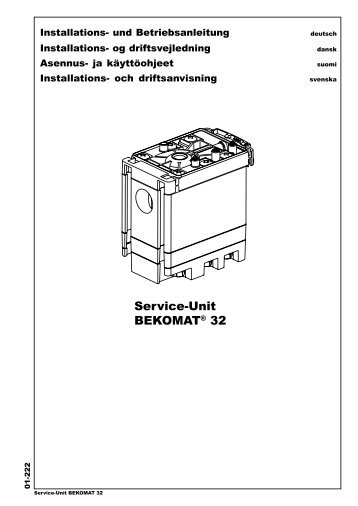 Service-Unit BEKOMAT® 32