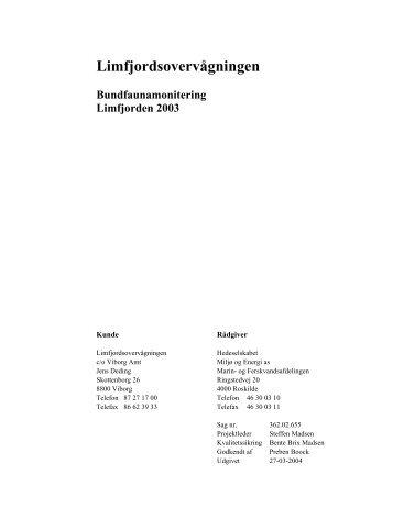 Specialrapport (pdf-2,8 MB) - Limfjorden