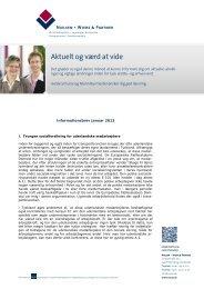 Informationer for danske clienter januar 2013 - Nielsen · Wiebe ...