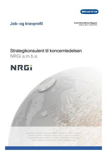 Strategikonsulent til koncernledelsen NRGi a.m.b.a. - Mercuri Urval