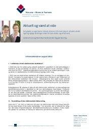 Informationer for danske clienter august 2012 - Nielsen · Wiebe ...