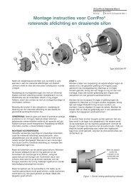 Montage instructies voor CorrPro® roterende afdichting ... - Kadant Inc.