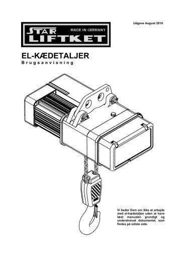 EL-KÆDETALJER - Liftket