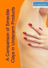 Comparison of Smectite Clays in Underarm Products - Elementis ...