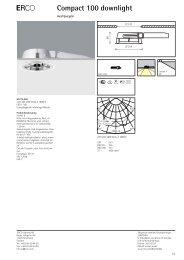Produktdatablad - Erco