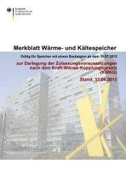 Merkblatt Wärme- und Kältespeicher - Bafa