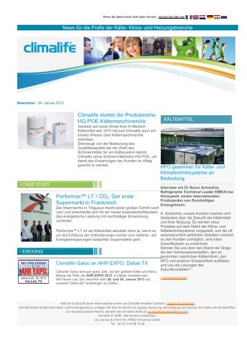 Climalife Newsletter 2013_01