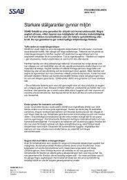 Starkare stålgarantier gynnar miljön - SSAB.com