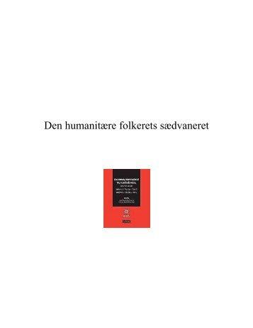 Den humanitære folkerets sædvaneret - ICRC