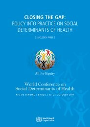 Discussion PaPer - World Health Organization