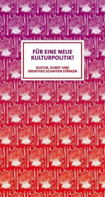 Für eine neue Kulturpolitik! - SPD