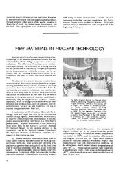 NEW MATERIALS IN NUCLEAR TECHNOLOGY - IAEA